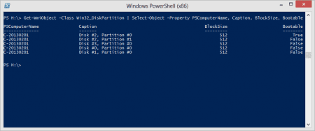 PowerShell - selected properties about your partitions