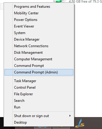 Start Command Prompt as Admin from Start Menu