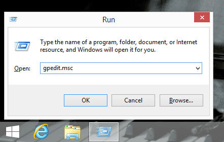 Launch local group policy editor
