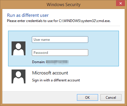 Windows Security popup