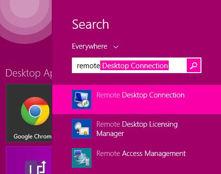 Launch Remote Desktop Connection