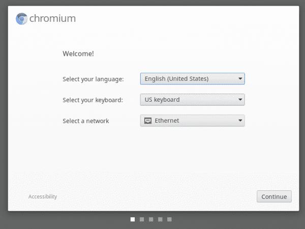 Chromium OS - initial setup