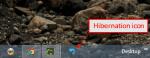 Hibernation icon on Taskbar