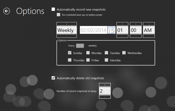 RecImg Manager - options