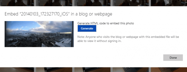 SkyDrive - Embed