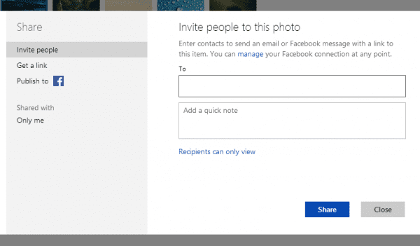 SkyDrive - Share - Invite People