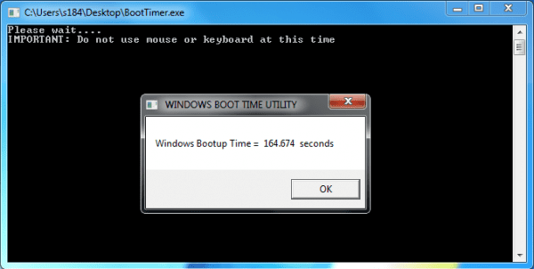 Windows BootTimer