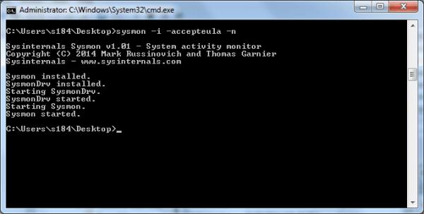 sysmon - install