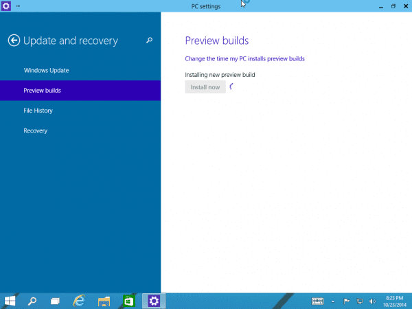 Windows 10 Preview Build