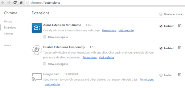 Chrome - Extensions