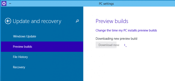 Windows 10 Preview Build Downloading