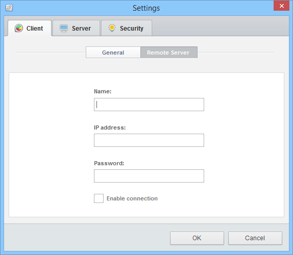 GlassWire - Remote Server setting