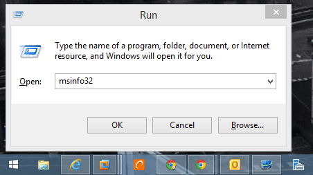 Run - msinfo32