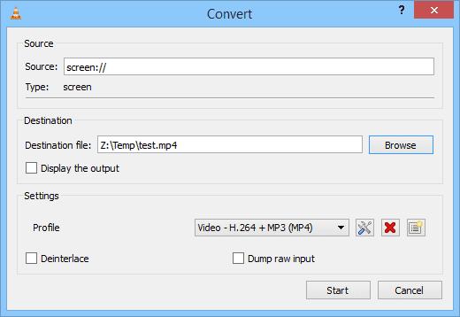VLC - convert