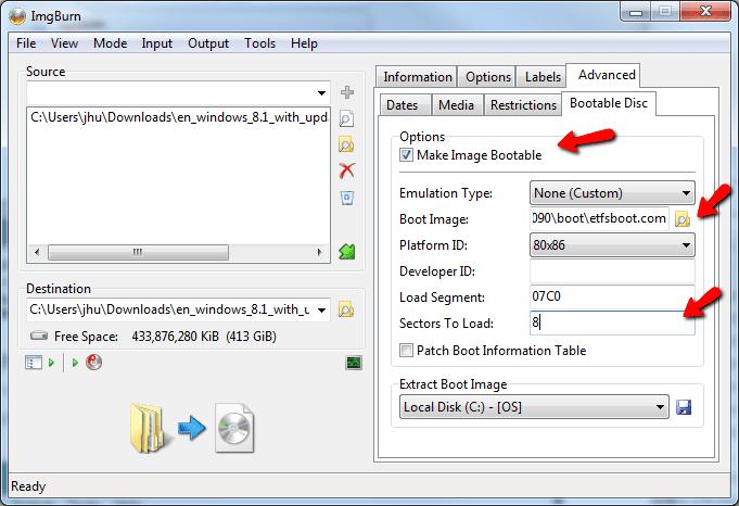 Как сделать файл образ windows xp