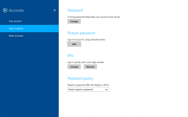 Windows 8.1 Password Policy