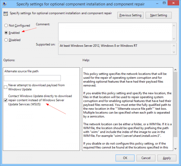 Specify settings for optional component installation and component repair - 2015-01-08 14_02_02