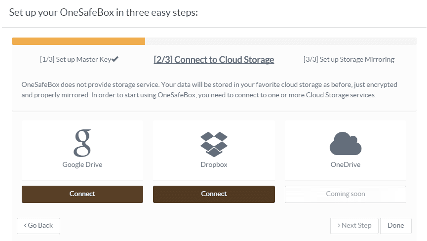 OneSafeBox link cloud storage