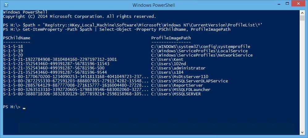 PowerShell - Get User Profile List