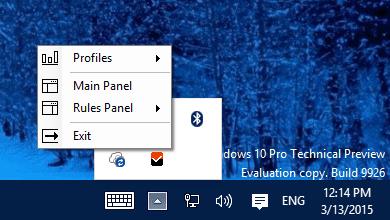 Windows Firewall Control - system tray