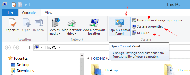 Control Panel from File Explorer