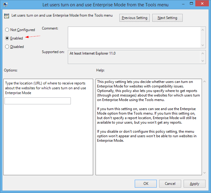 Let users turn on and use Enterprise Mode from the Tools menu - 2015-04-14 14_18_12