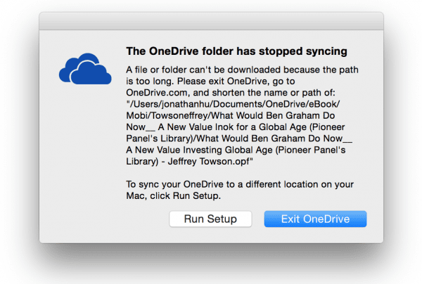 OneDrive Troubleshoot Can't Start Mac OS X