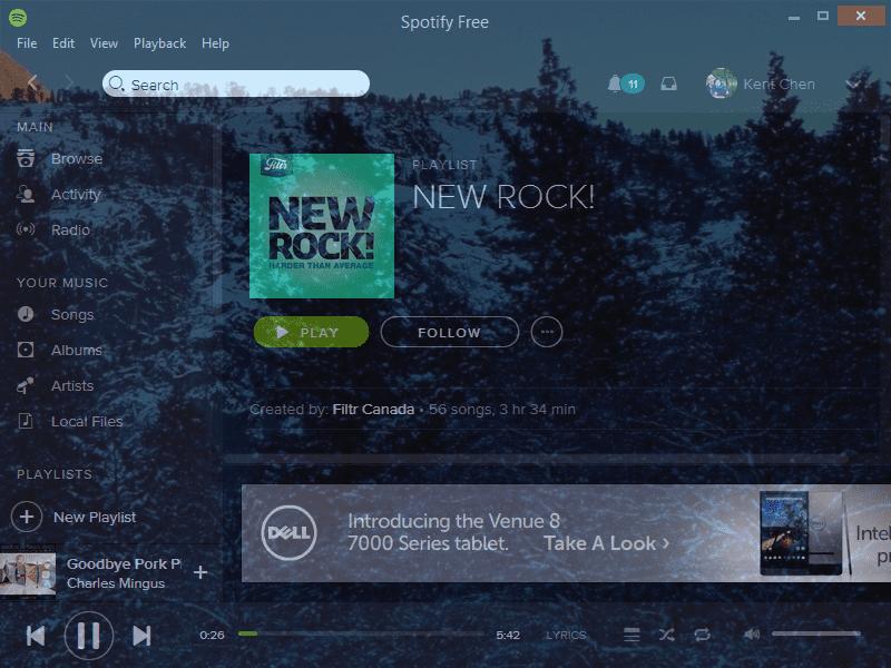 Spotify Free - transparent