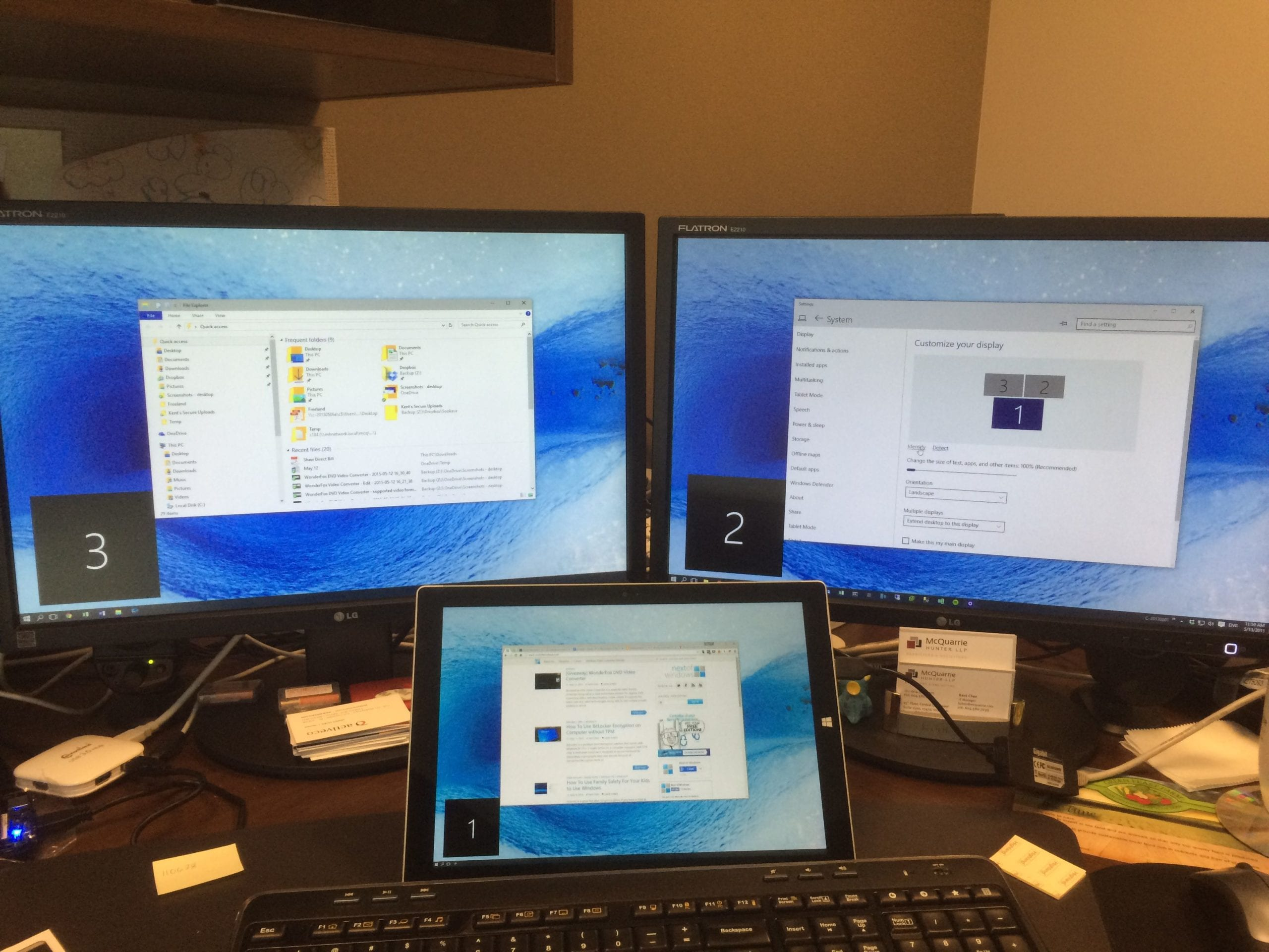 How To Use Surface Tablet Or Any Laptop As Second Monitor