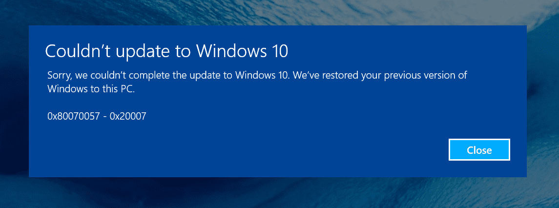 Couldnt update to windows 10 on Surface Pro 3