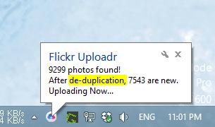 Flickr Uploadr - deduplication