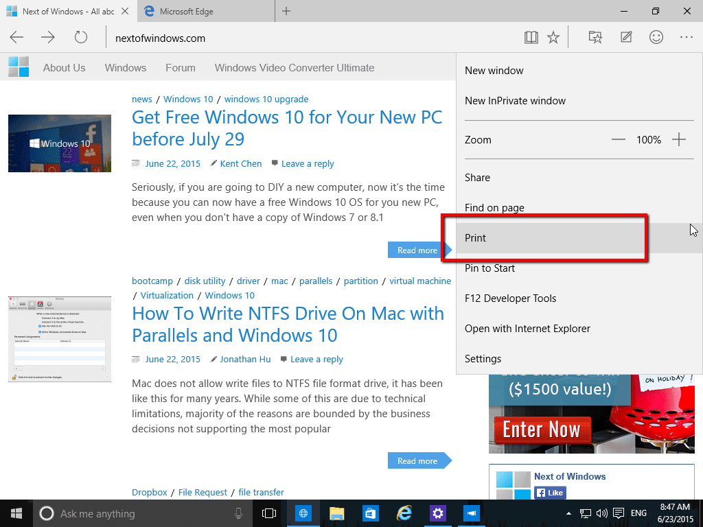 3 Ways to Save Web Page as PDF in Windows 10 | Next of Windows