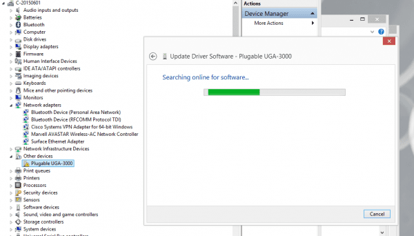 Install USB video adapter driver