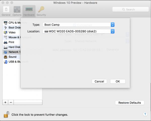 Parallels Configuration to enable NTFS Write via Mac