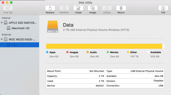 Parallels Configuration to enable NTFS Write via Mac