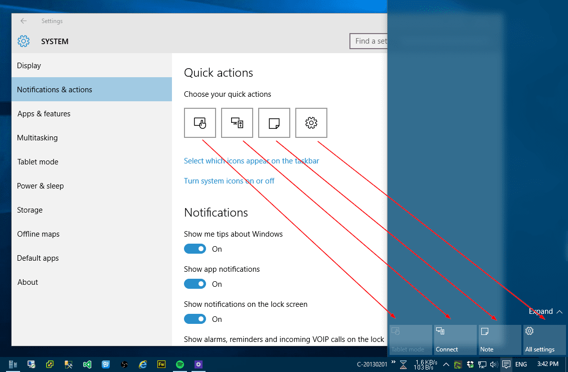 Windows 10: How To Set Up Quick Action Buttons in Action Center ...
