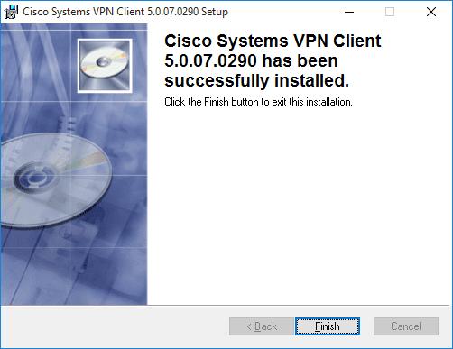 Cisco VPN Client Installation Succeed