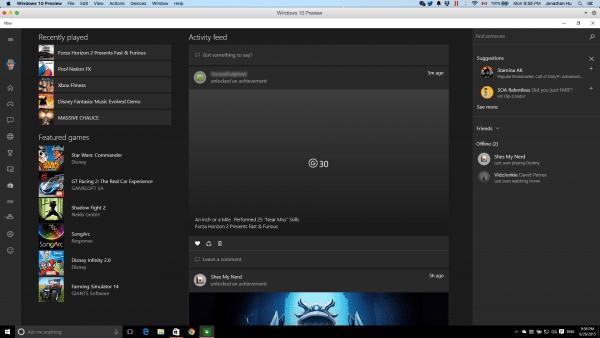 Xbox One on VM Windows 10