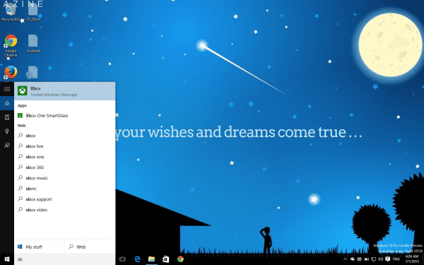 Windows 10 Xbox One App