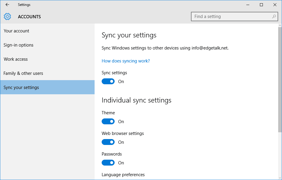 How Do I Sync My Settings In Windows 10 Feb 2016 b 252 cher verkaufen