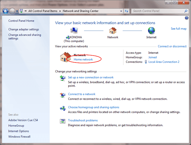change network adapter from public to private windows 8