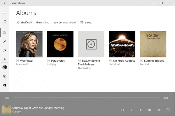 Groove Music on Windows 10