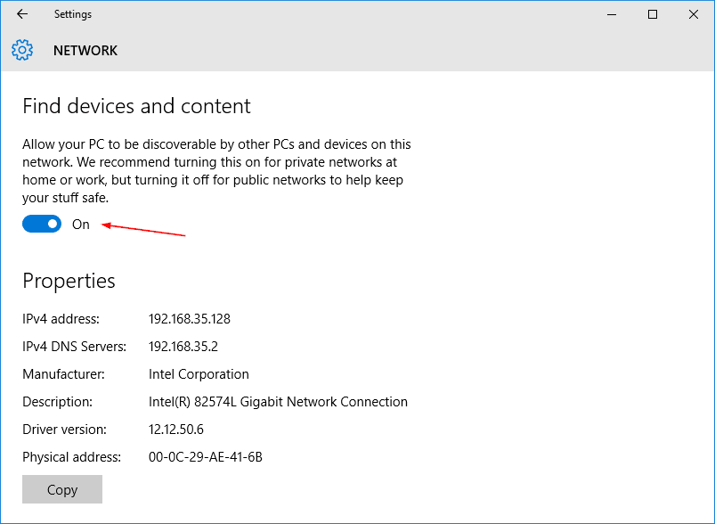 how to change public network to home windows 10