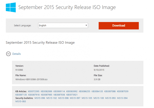 September 2015 Security Updates Image