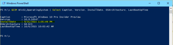PowerShell - System Install date