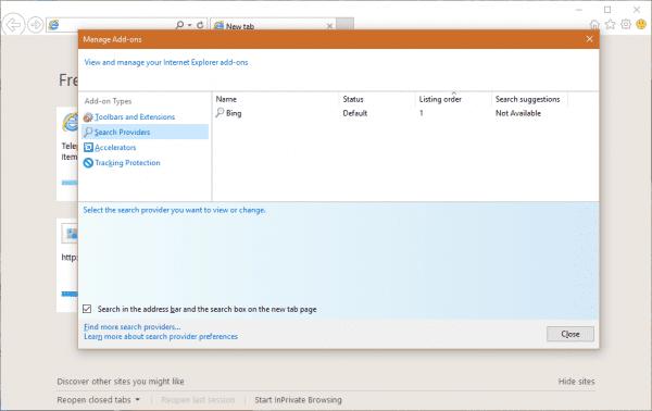 IE 11 Search Provider
