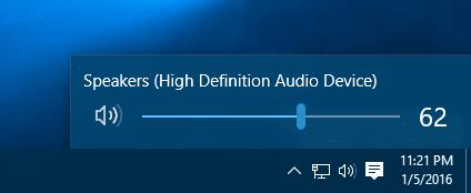 Windows 10 - audio volume control
