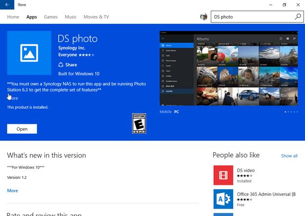 Access Synology NAS via Windows 10 Universal App - Next of Windows