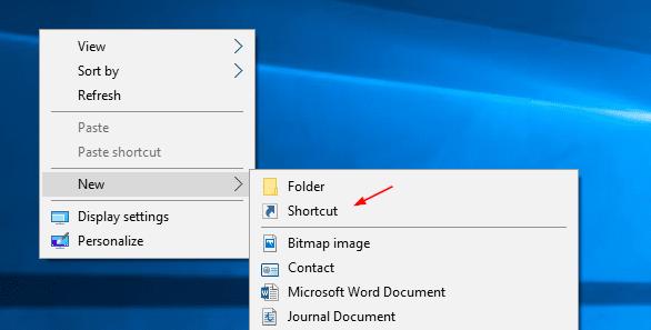 Create Shortcut - 1