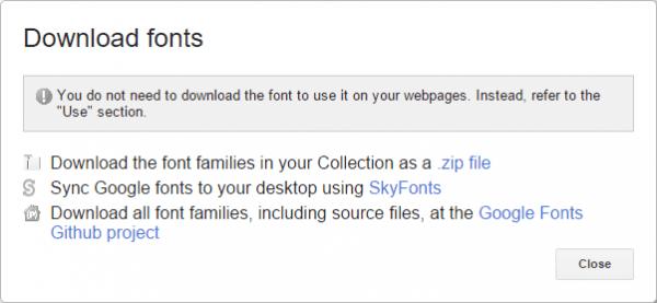Google Font - Download